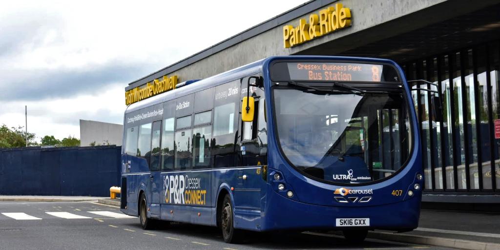 Park&Ride Cressex Connect bus