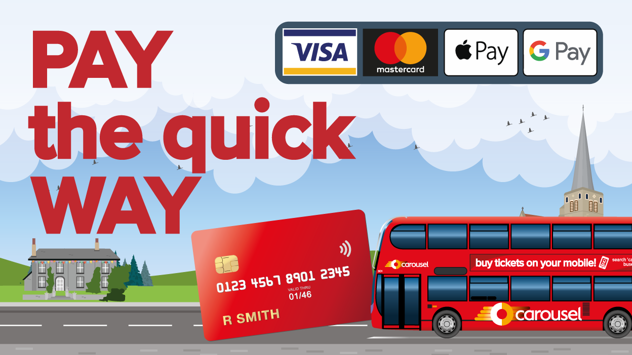 Image reading 'Pay the quick way'