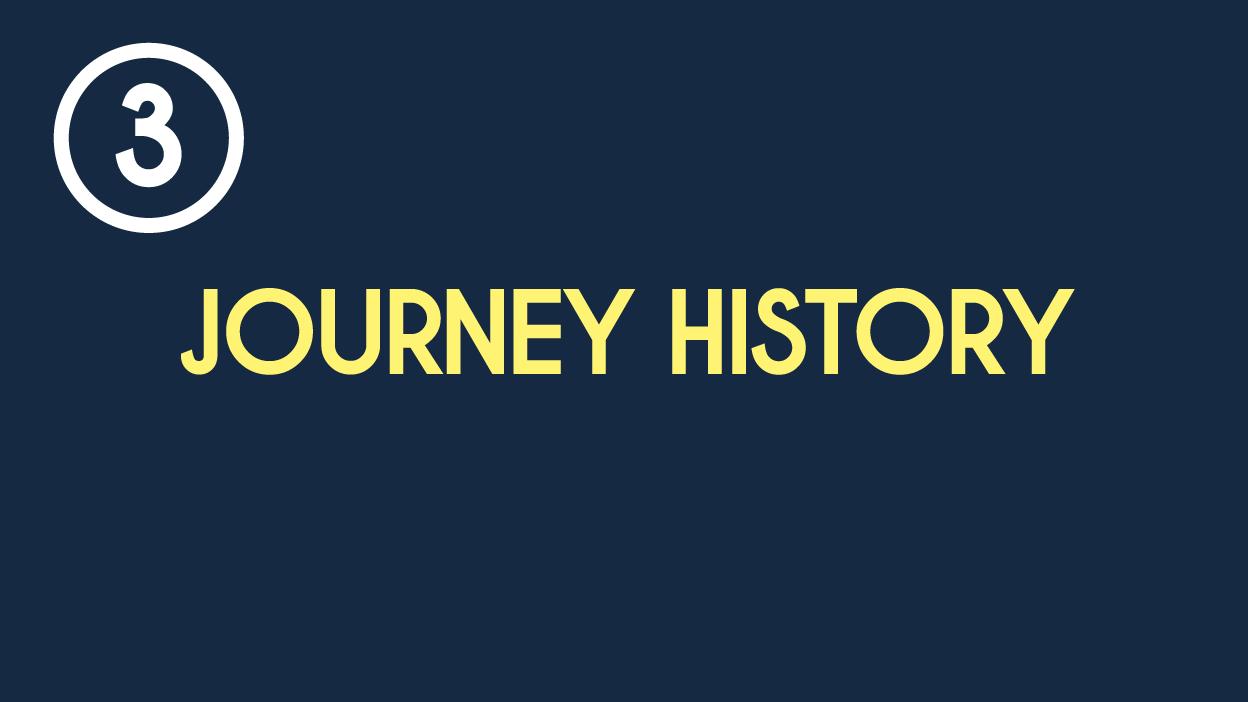 3 - Journey history