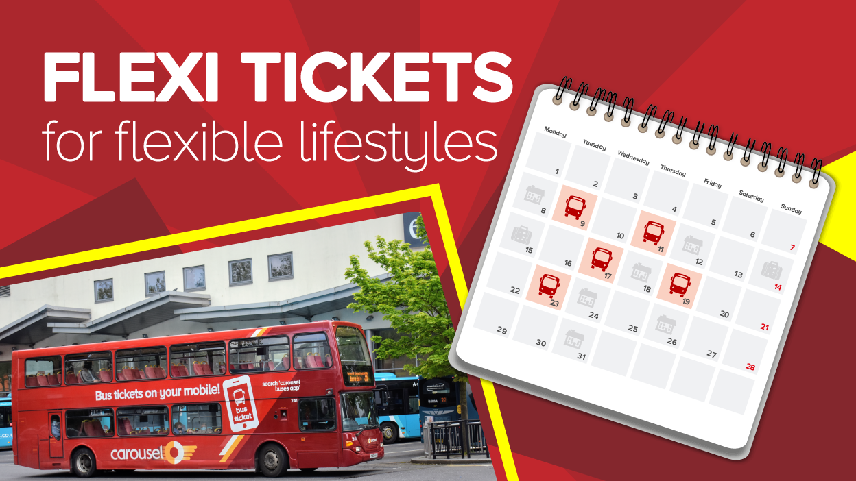Image reading 'Flexi tickets for flexible lifestyles'