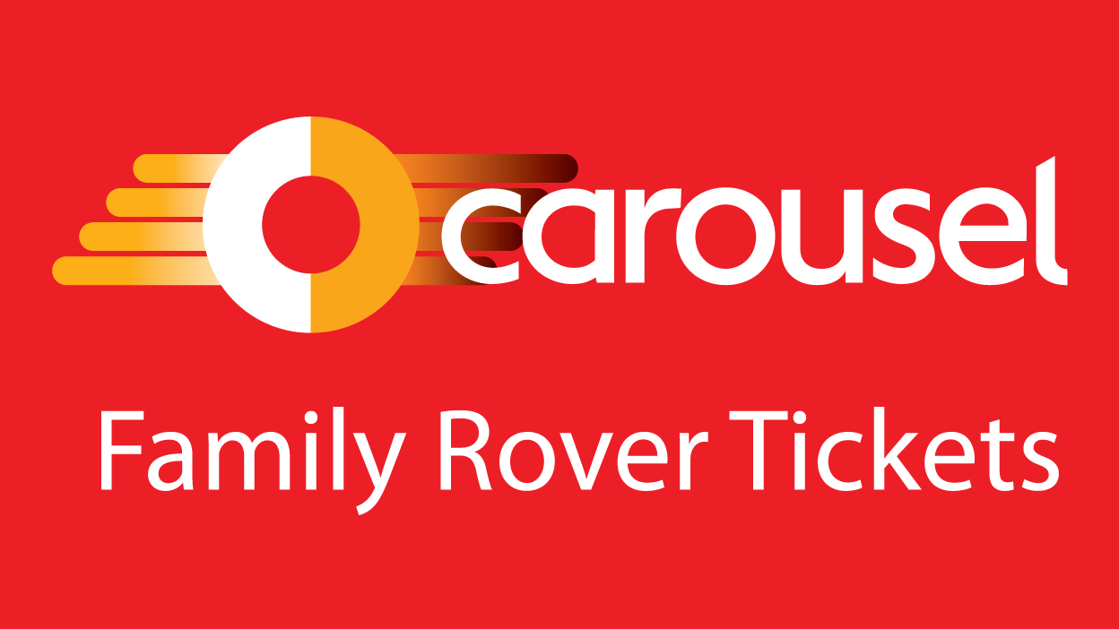 Image reading 'Carousel Family Rover Tickets'