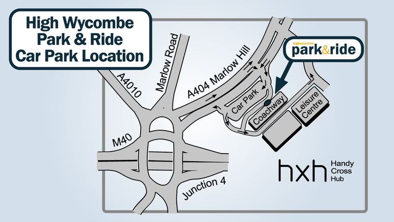 Close view of Park & Ride Car Park location