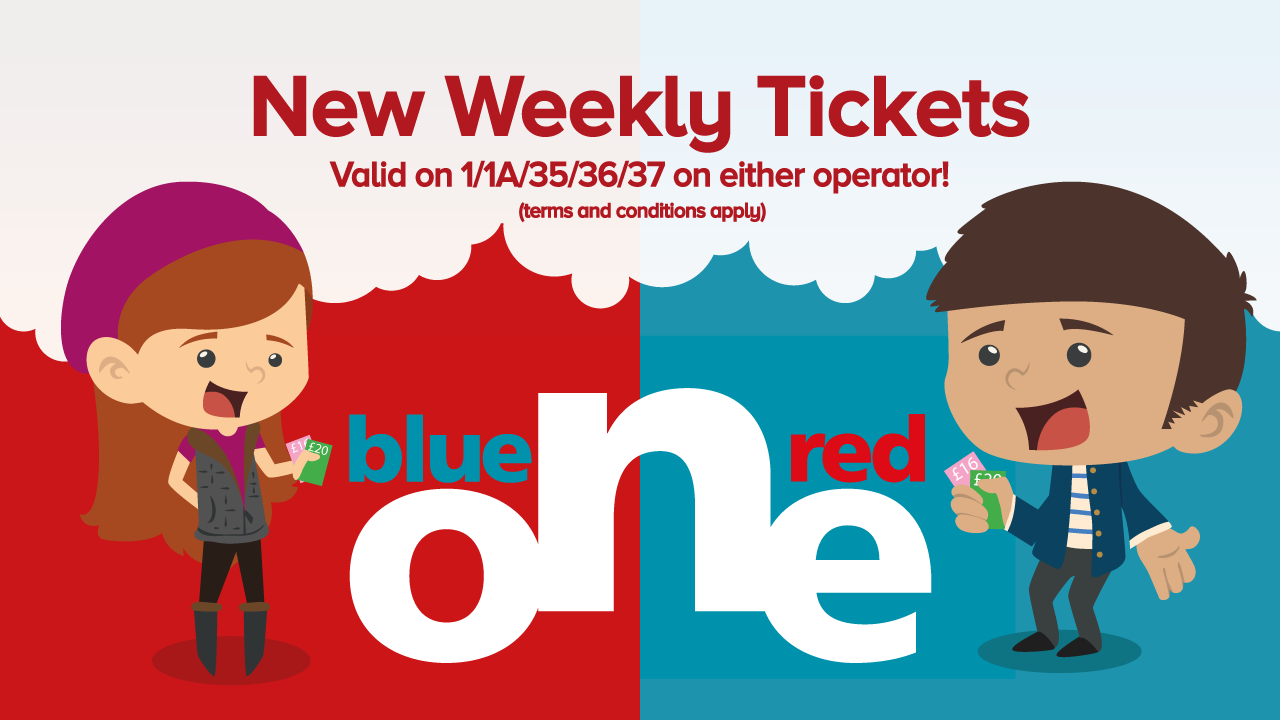 Image reading 'new weekly tickets'