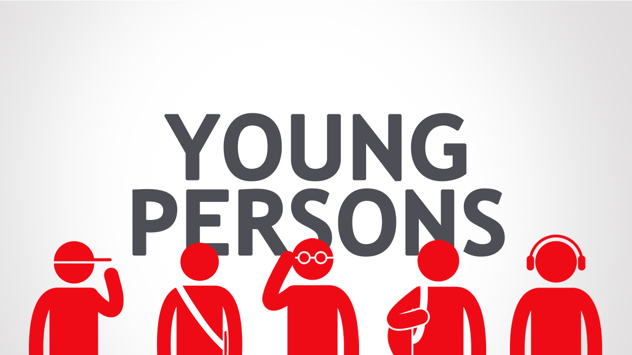 Image reading 'young persons'